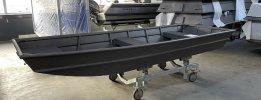 Allcraft 400 aluminium platbodem gepoedercoat (NIEUW)  foto: 0