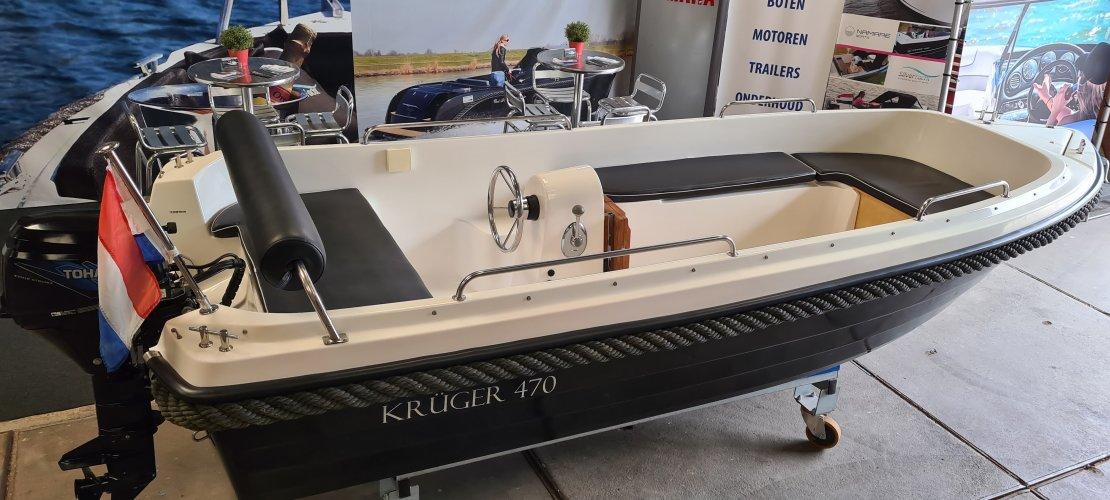 Kruger 470 met Tohatsu 9.8 &Zonnedek &Opmaat afdekzeil  foto: 0