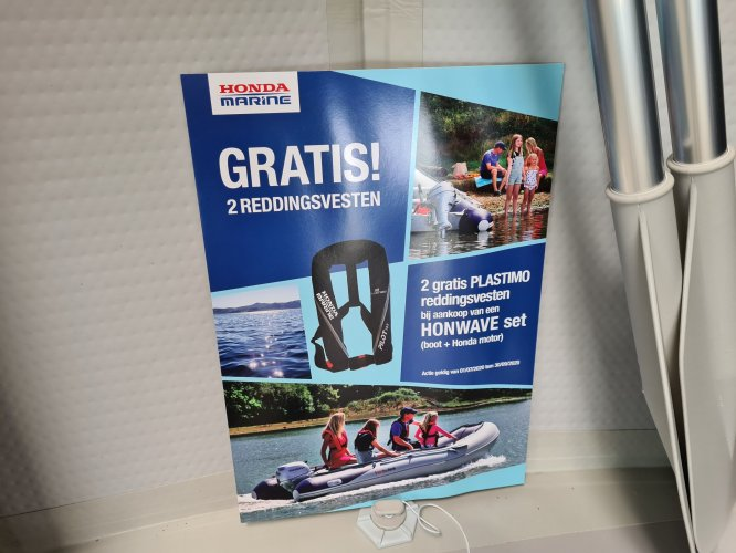 Honda Honwave 2.70 & 3.00 rubberboot foto: 1