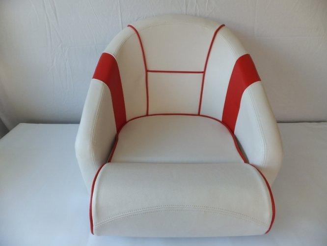 Luxe kuipstoel, rood wit  foto: 1