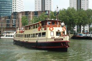 Salon boat conversion houseboat houseboat