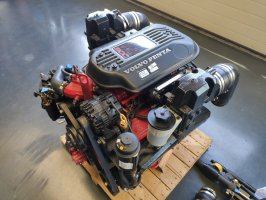 Volvo Penta V8 5.7 300 HP Motor Engine SET Sterndrive Duo prop Transom 2008 Injection