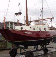 Huitema Zeeschouw (platbodem met kajuit, zeilboot)