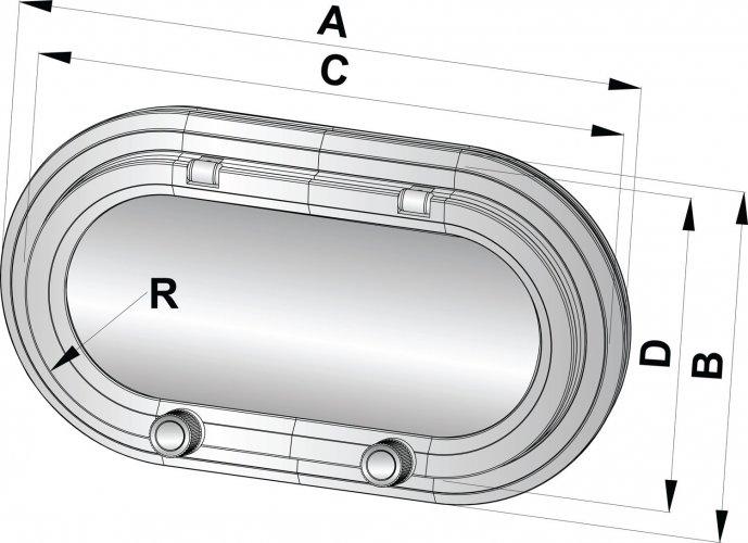 Patrijspoort type PM161 CE-A1 375x175  foto: 1