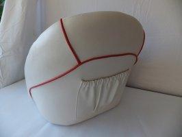 Luxe kuipstoel, rood wit  foto: 3