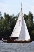 Norwegian folk boat Kroes camps